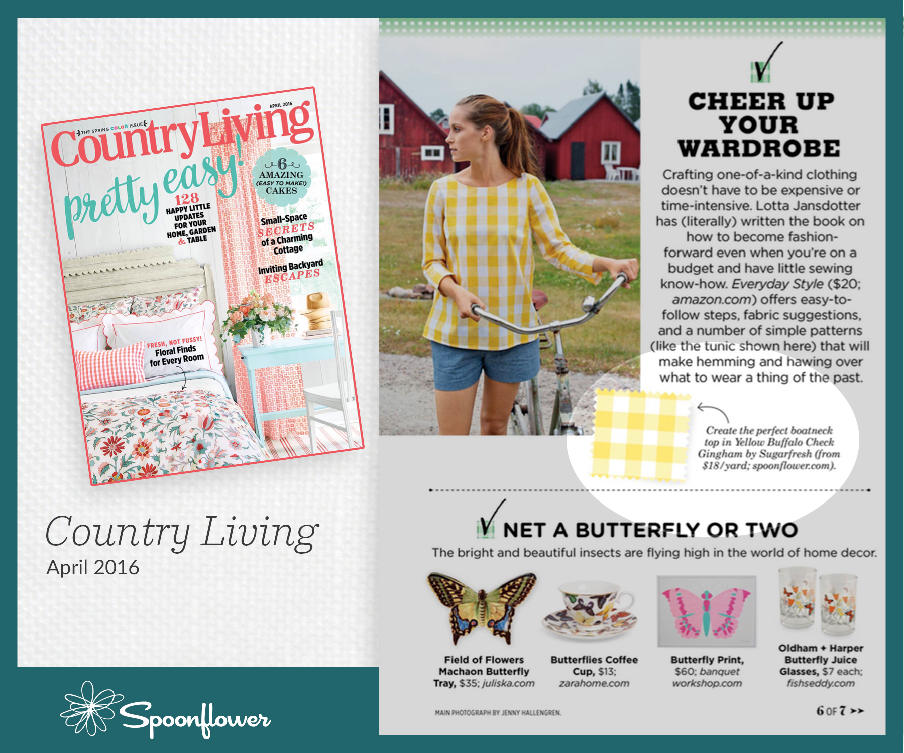 Press press releases spoonflower for Country living sweepstakes april 2016