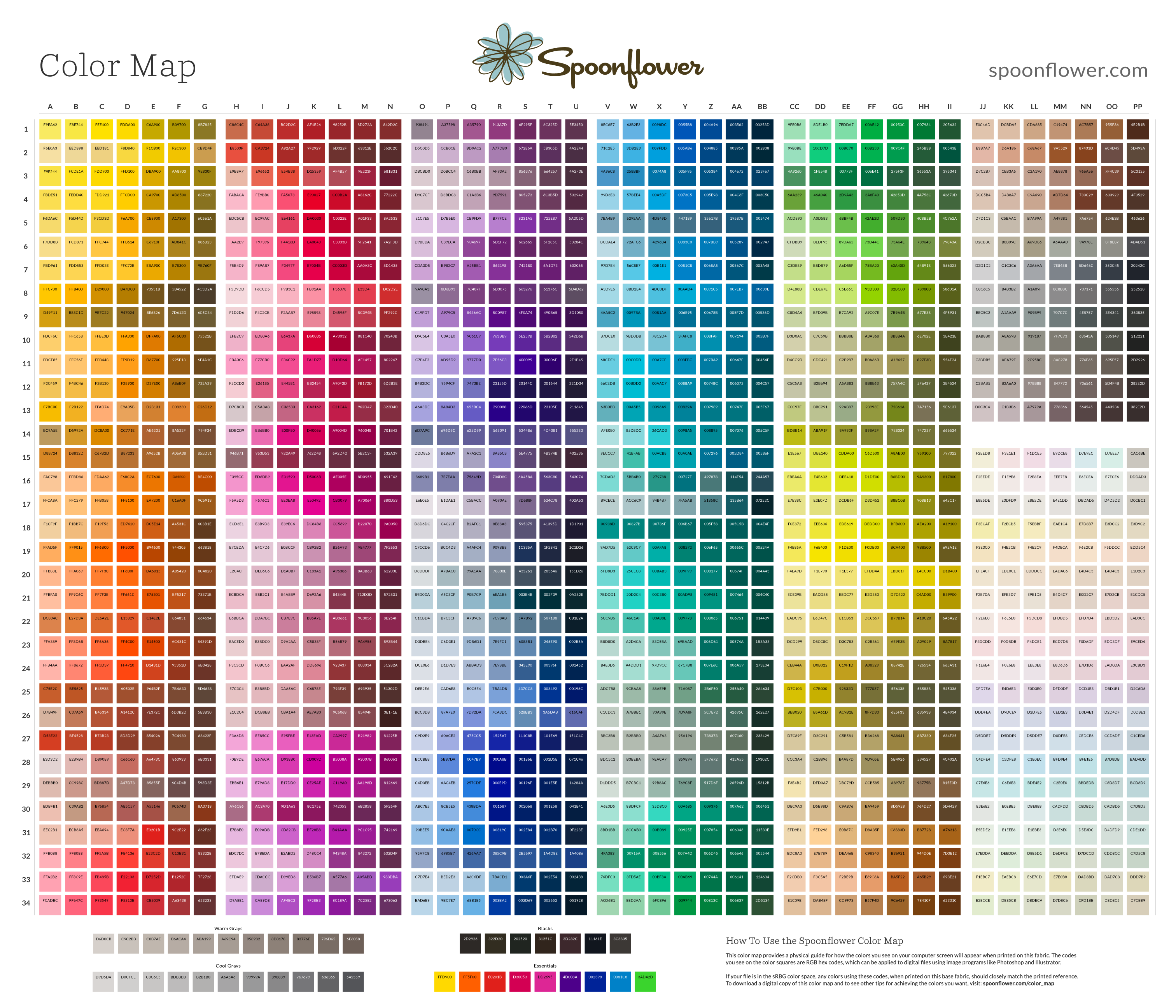 Red color code wolf online - Download A Digital Copy Of The Spoonflower Color Map