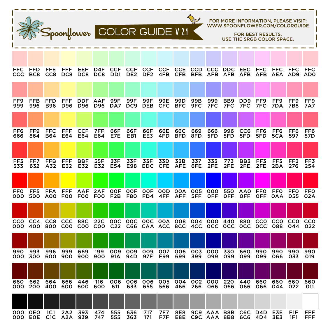 Permalink to Color Matching Chart