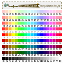 Color Guide Swatch - 171 Colors & Hex Codes | Spoonflower