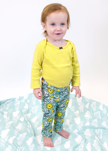 The comfortable stretch of Cotton Spandex Jersey is perfect for baby clothes