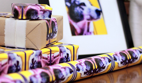 Upload your gift wrap design