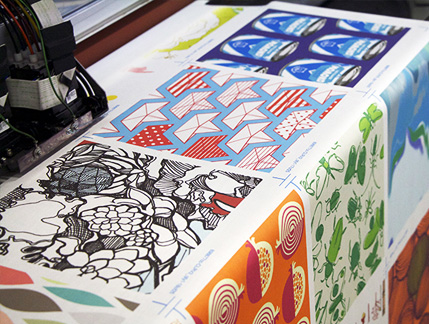 All Spoonflower fabric is custom printed in Durham, NC