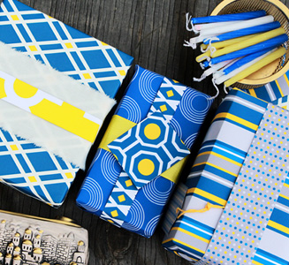 Use Spoonflower       gift wrap for posters