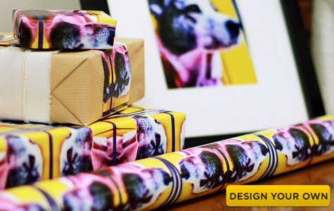 Design your own custom Spoonflower gift wrap