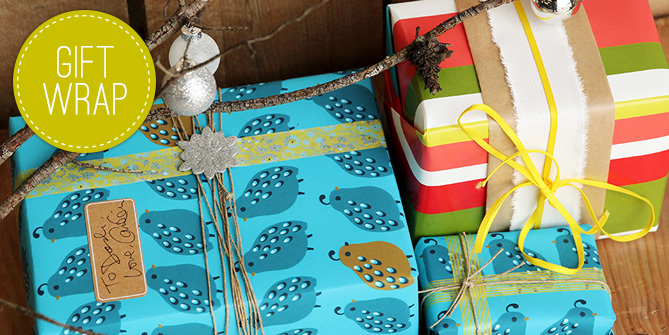 Shop for Spoonflower gift wrap or design your own