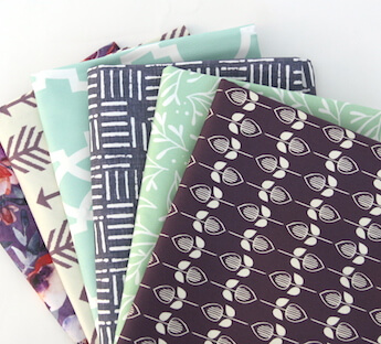 6 folded tea towels made from lightweight cotton twill. Multi-colored featuring different designs from the Spoonflower Marketplace.