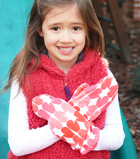 Use Minky for snuggly gloves and mittens