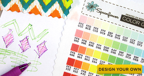 Design your own custom Spoonflower Modern Jersey fabric