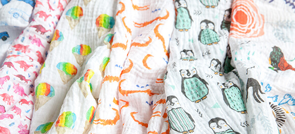 Shop Spoonflower's marketplace for Organic Sweet Pea Gauze fabric