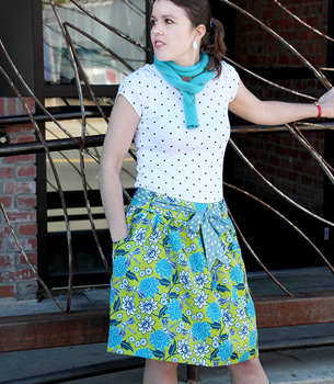 Use Spoonflower Silky Faille for skirts