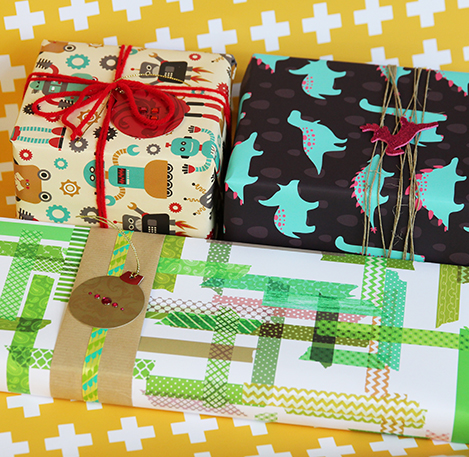 Individual designers and crafters use Spoonflower to print custom gift wrap from their own designs.