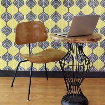Repositionable Wallpaper is perfect for rentals