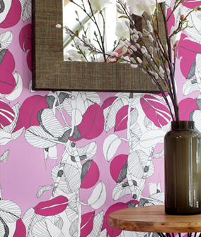 Spoonflower Wallpaper prints bright and beautiful