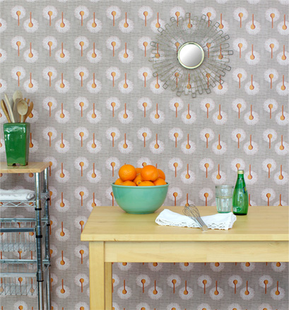 Repositionable wallpaper is a quick decor changer